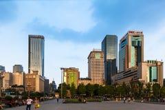 Квадрат Tianfu Чэнду, Китая стоковые изображения rf