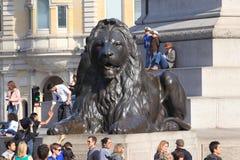 Квадрат Trafalgar в Лондоне стоковые изображения