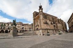 Квадрат Trujillo, места ЮНЕСКО, Испании Стоковое Изображение