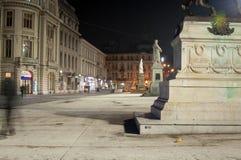 Квадрат Universitate в ноче Стоковое Изображение RF