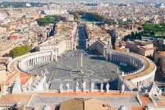 квадрат vatican святой Италии peter rome s Стоковая Фотография RF