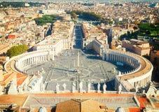 квадрат vatican святой Италии peter rome s Стоковое фото RF