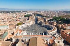 квадрат vatican святой Италии peter rome s Стоковое Изображение