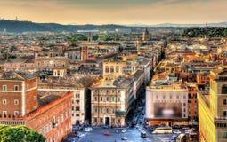 Квадрат Venezia аркады в Риме Стоковое фото RF