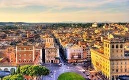 Квадрат Venezia аркады в Риме Стоковые Фото