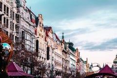 Квадрат Wenceslas на Праге, чехии стоковая фотография rf