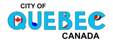 Квебек - Канада, абстрактная надпись в сини Стоковая Фотография RF