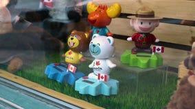 Квебек, Канада - 25-ое июня 2018: Я люблю игрушки Канады r акции видеоматериалы