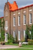 Квебек, старый здание муниципалитет Dolbeau Mistassini стоковая фотография
