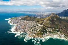 Кейптаун и 12 Apostels сверху Стоковая Фотография RF