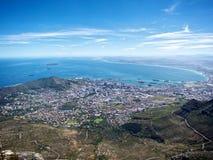 Кейптаун от горы таблицы Стоковое фото RF