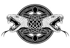 кельтская змейка картин Стоковое фото RF
