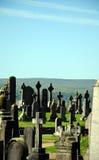 Кельтские кресты - шотландское кладбище Стоковое Изображение