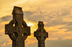 кельтские кресты стоковое изображение rf