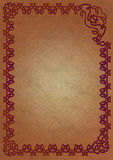 кельтский красный цвет рамки Стоковая Фотография