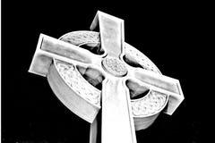 Кельтский крест, мрамор и гранит, белый цвет стоковая фотография