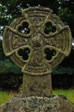 Кельтский крест на погосте Стоковые Фотографии RF
