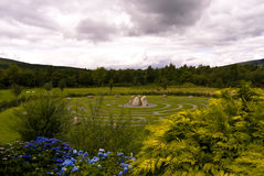 кельтский лабиринт wicklow Ирландии Стоковое Фото