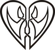 кельтский tattoo сердца соплеменный Стоковое Изображение RF