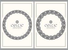 Кельтским заплетенный узлом орнамент границы рамки Размер A4 иллюстрация штока