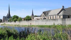 Кембридж, Канада большим рекой, timelapse 4K сток-видео
