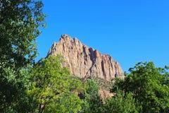 Кемпинг наблюдателя национального парка Сиона Стоковая Фотография RF