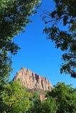 Кемпинг наблюдателя национального парка Сиона Стоковые Фотографии RF