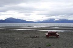 Кемпинг на пляже Стоковые Фотографии RF
