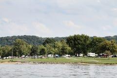 Кемпинг парка штата озера Green River стоковое фото
