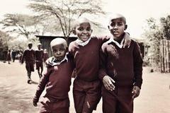 Кенийские мальчики Стоковые Фотографии RF