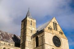 КЕНТЕРБЕРИ, KENT/UK - 12-ОЕ НОЯБРЯ: Взгляд собора Кентербери Стоковые Изображения RF