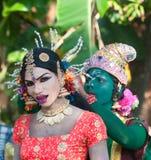 КЕРАЛА, ИНДИЯ - 17-ое января: Фестиваль виска Pooram на января, Стоковое фото RF