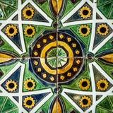 Керамика в музее плитки Лиссабона, Португалии стоковое изображение rf