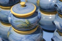 керамика цветастый французский riviera стоковые фото