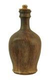 Керамическая бутылка ручной работы глины белизна изолированная предпосылкой Стоковые Фотографии RF