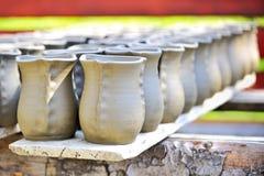 керамическая ваза засыхания Стоковая Фотография RF