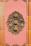 Керамическая деталь от стены в запретном городе, Пекина королевского дворца Стоковое Изображение