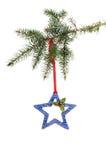 Керамическая звезда рождества в хвое Стоковое Фото