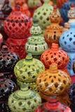 Керамическая и украшенная ваза Стоковая Фотография