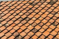 Керамическая картина крыши с селективным фокусом Стоковая Фотография