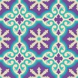 Керамическая картина мозаики плитки пола с украшением Стоковое Изображение