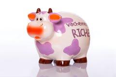 Керамическая корова денег Стоковое Изображение