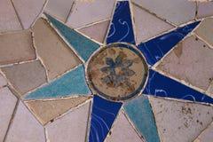 Керамическая мозаика стоковая фотография rf