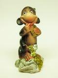 Керамическая обезьяна figurine Стоковые Изображения RF