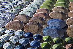 Керамическая посуда, Узбекистан Стоковая Фотография