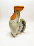 Керамическая птица петуха figurine Стоковые Изображения