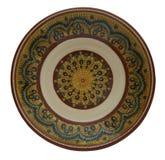 Керамическая плита покрашенная в технологии Фландрии Изолированный на whit Стоковое Изображение