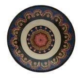 Керамическая плита покрашенная в технологии Фландрии Изолированный на whit Стоковые Изображения