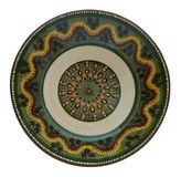 Керамическая плита покрашенная в технологии Фландрии на белом backgrou Стоковое фото RF