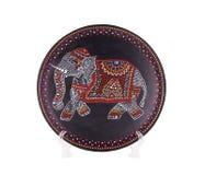 Керамическая плита с залакированным слоном Стоковое фото RF